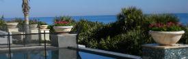 bowls on ocean terrace