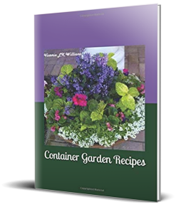 3D cover Container Garden Reciepes, upright